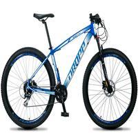 Bicicleta Aro 29 Dropp Rs1 Pro 24v Acera Freio Hidra E Trava - Azul/branco - 17