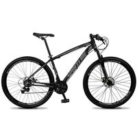 Bicicleta Aro 29 Spaceline Vega 21v Shimano E Freio A Disco - Preto/cinza - 21´´ - 21´´