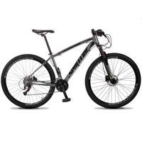 Bicicleta Aro 29 Spaceline Vega 27v Suspensão E Freio Hidral - Cinza/preto - 19''