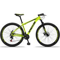 Bicicleta Aro 29 Spaceline Orion 21v Suspensão Freio A Disco - Amarelo/preto - 17''