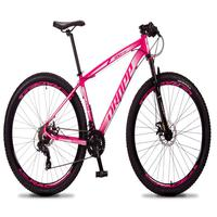 Bicicleta Aro 29 Dropp Rs1 Pro 21v Tourney Freio Disco/trava - Rosa/branco - 21