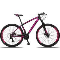 Bicicleta Aro 29 Dropp Z3 21v Shimano, Suspensão Freio Disco - Preto/rosa - 15''