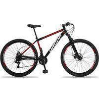 Bicicleta Aro 29 Dropp Sport 21v Suspensão E Freio A Disco - Preto/vermelho E Branco - 17´´ - 17´´