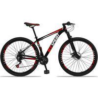 Bicicleta Aro 29 Gt Sprint Mx1 21v Suspensão E Freio A Disco - Preto/vermelho E Branco - 17´´ - 17´´