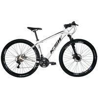 Bicicleta Aro 29 Ksw Xlt 24 Marchas Shimano Freio Hidraulico - Branco/preto - 19''