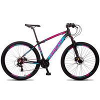 Bicicleta Aro 29 Dropp Z4x 24v Susp C/trava Freio Hidraulico - Preto/azul E Rosa - 19´´ - 19´´