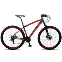 Bicicleta Aro 29 Dropp Z4x 24v Susp C/trava Freio Hidraulico - Preto/vermelho - 15´´ - 15´´