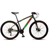 Bicicleta Aro 29 Gt Sprint Volcon 21v Suspensão, Freio Disco - Preto/vermelho E Verde - 15''