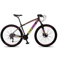 Bicicleta Aro 29 Gt Sprint Volcon 27v Susp E Freio Hidraulic - Preto/amarelo E Rosa - 17''