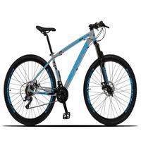Bicicleta Aro 29 Dropp Z3x 21v Suspensão E Freio Disco - Cinza/azul - 17´´ - 17´´