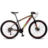 Bicicleta Aro 29 Gt Sprint Volcon 21v Shimano, Freio A Disco - Preto/vermelho E Amarelo - 21''