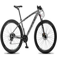 Bicicleta Aro 29 Dropp Rs1 Pro 24v Acera Freio Hidra E Trava - Cinza/preto - 19