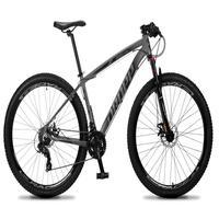 Bicicleta Aro 29 Dropp Rs1 Pro 21v Tourney Freio Disco/trava - Cinza/preto - 19