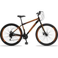 Bicicleta Aro 29 Dropp Sport 21v Garfo Rigido, Freio A Disco - Preto/laranja - 17''