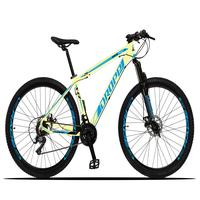 Bicicleta Aro 29 Dropp Z3x 21v Suspensão E Freio Disco - Bege/azul - 19´´ - 19´´