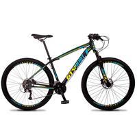 Bicicleta Aro 29 Gt Sprint Volcon 21v Shimano, Freio A Disco - Preto/azul E Amarelo - 21