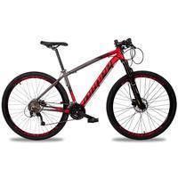 Bicicleta Aro 29 Dropp Z7x 27v Susp C/trava Freio Hidraulico - Cinza/vermelho E Preto - 21''