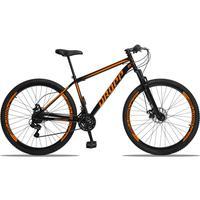 Bicicleta Aro 29 Dropp Sport 21v Suspensão E Freio A Disco - Preto/laranja - 19''