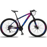 Bicicleta Aro 29 Dropp Z3 21v Shimano, Suspensão Freio Disco - Preto/azul E Rosa - 17''