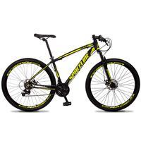 Bicicleta Aro 29 Spaceline Vega 21v Shimano E Freio A Disco - Preto/amarelo - 15