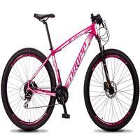 Bicicleta Aro 29 Dropp Rs1 Pro 24v Acera Freio Hidra E Trava - Rosa/branco - 15