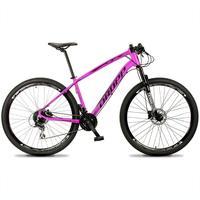 Bicicleta Aro 29 Dropp Tx 24v Acera, Susp E Freio Hidraulico - Rosa/preto - 19