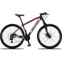 Bicicleta Aro 29 Dropp Z3 21v Shimano, Suspensão Freio Disco - Preto/vermelho E Branco - 19