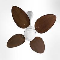 Ventilador De Teto Office Jet Venti-delta Branco 4pás Rattan Tabaco 110v