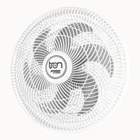 Ventilador Maggie Parede Branco Oscilante 220v Pás Prata