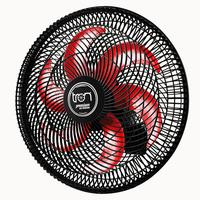 Ventilador Maggie Parede Preto Oscilante 220v Pás Vermelho