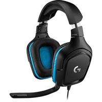 Headset Gamer Logitech G432, Som Surround 7.1, Drivers 50mm, Preto E Azul
