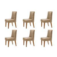Conjunto Com 6 Cadeiras Safira Rufato
