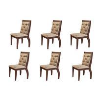 Conjunto Com 6 Cadeiras Lucy Rufato