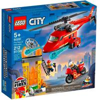 Lego City - Helicóptero De Resgate Dos Bombeiros - 60281