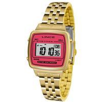 Relógio Feminino Lince Digital Sdph043l Brkx Dourado