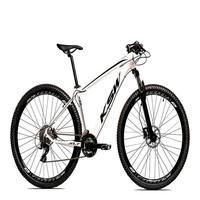 "Bicicleta Aro 29 Ksw 24 Marchas Freio Hidraulico, Trava E K7 Cor: Branco/Preto, Tamanho Do Quadro:19""- 19"""
