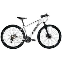 "Bicicleta Aro 29 Ksw 21 Marchas Freios A Disco C/trava E K7 Cor: Branco/Preto, Tamanho Do Quadro:15"" - 15"""