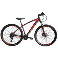 """Bicicleta Aro 29 Ksw 21 Marchas Freio Hidráulico E Suspensão Cor: Preto/Laranja E Vermelho, Tamanho Do Quadro:19"""" - 19"""""""