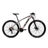 """Bicicleta Aro 29 Ksw 21 Marchas Freio Hidráulico E Suspensão Cor: Grafite/Preto, Tamanho Do Quadro:17"""" - 17"""""""