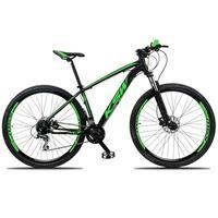"""Bicicleta Aro 29 Ksw 21 Marchas Freios Hidraulico E K7 Cor: preto/verde tamanho Do Quadro:19"""" - 19"""""""