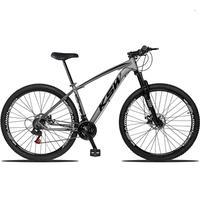 "Bicicleta Aro 29 Ksw 21 Marchas Freios A Disco C/trava E K7 Cor: grafite/preto tamanho Do Quadro:21"" - 21"""