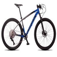 """Bicicleta Aro 29 Dropp Z7x 12v Absolute, C/trava E Fr. Hidra - Cinza/azul - 21"""""""