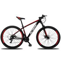Bicicleta Aro 29 Ksw 24 Marchas Shimano Freio Hidraulico/k7 Cor preto/vermelho E Branco tamanho Do Quadro 21''
