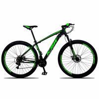 """Bicicleta Aro 29 Ksw 24 Marchas Freios A Disco, K7 E Suspensão Cor: preto/verde tamanho Do Quadro:17"""" - 17"""""""