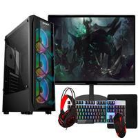 """PC Gamer Completo Fácil Intel I3 10100F Décima Geração, 8GB, GTX 1650 4GB, HD 1TB, Monitor 21.5"""", Fonte 500W"""
