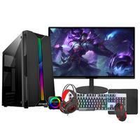 """Pc Gamer Completo Fácil Intel I5 16GB, Fonte 500w, GT 420 4GB, SSD 240GB, Monitor 21"""" -  10400f"""