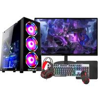 "Pc Gamer Completo Fácil Intel I5 10400f 8GB, Gtx 750ti 4GB, SSD 480GB, Monitor 21"" - Fonte 500w"