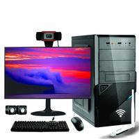 Computador Completo Icc Intel Core I3 4gb Hd 500gb Monitor 19 Adap. Wireless Usb U1 N300 Webcam