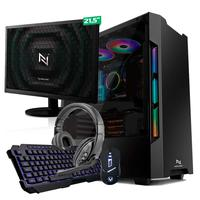 Kit - Pc Gamer Start Nli82905 Amd 320ge 8gb vega 3 Integrado Ssd 120gb + Monitor 21,5