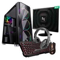 Kit - Pc Gamer Start Nli82889 Amd 320ge 16gb vega 3 Integrado Ssd 240gb + Monitor 19.5